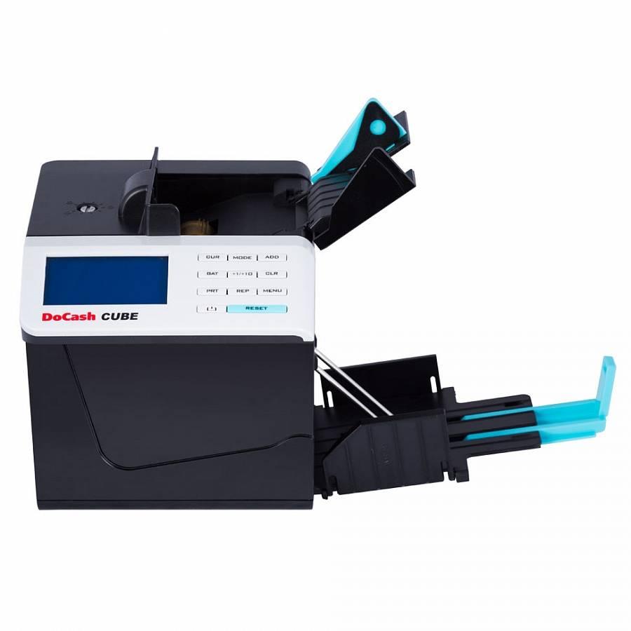 Автоматический детекторпортативный счетчик банкнот DoCash CUBE